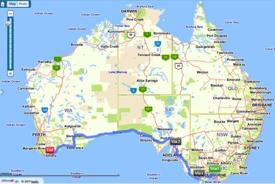2010 AGM Its the journey not the destination that counts – Big Map of Australia
